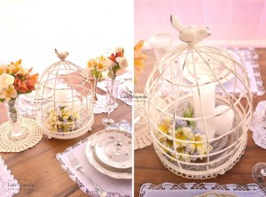 flores+velas+gaiola+a casa cheia