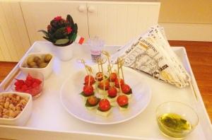 decoração jantar italiano a casa cheia