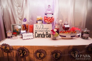 30-travel-inspired-international-wedding-details-candy-bar-purple-pink